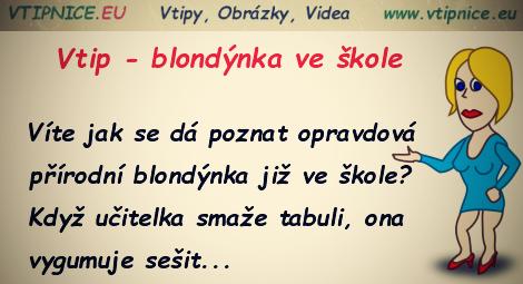 Vtipy O Blondynach Blondynka Ve Skole Vtipnice Eu