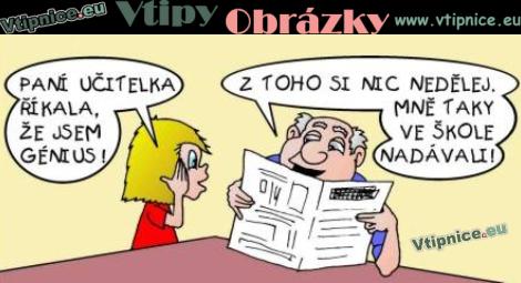 Kreslene Vtipy Chytry Zacek A Jeste Chytrejsi Tatinek Vtipnice Eu