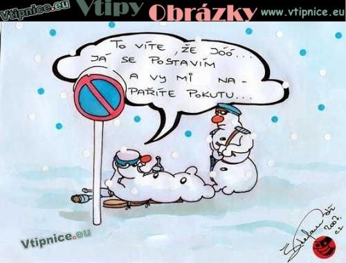 Kreslene Vtipy Snehulacka Policie Vtipnice Eu