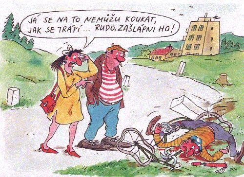 Kreslene Vtipy Cyklista Ve Skarpe Vtipnice Eu